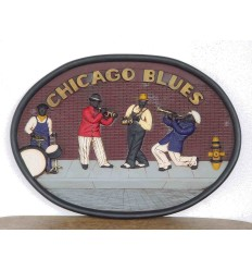 ADV. CHICAGO BLUES OVAL