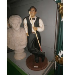 BILLIARD PLAYER STANDING