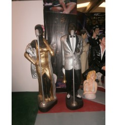 STATUE NEGRO JAZZ SINGER LIFE SIZE ( SIL