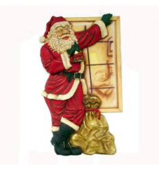 SANTA  STANDING BY WINDOW