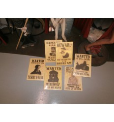SET OF SIX OUTDOOR WANTED POSTERS
