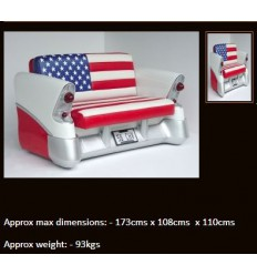 AMERICAN FLAG CAR COUCH