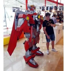 ROBOT TRANSFORMER ROJO
