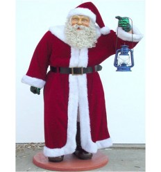 SANTA WITH REAL CLOTHES AND LANTERN