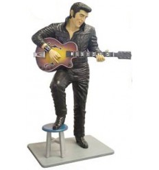 'SINGER LEATHER STANDING ON STOOL - 6'''