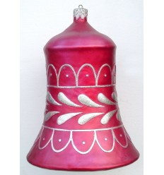 CHRISTMAS D+COR BELL RED W/ SILVER
