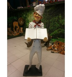 CHEF WITH MENU HOLDER 6FT.