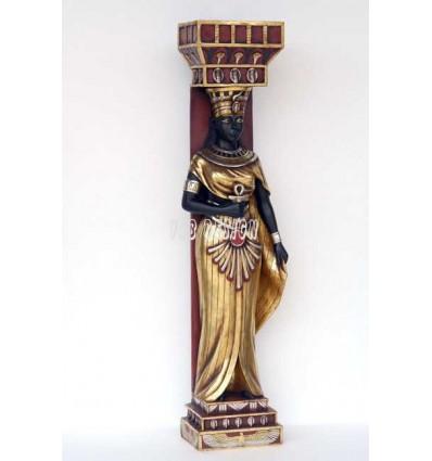 Columna egipcia mujer columna decorativa egipcia for Decoracion egipcia