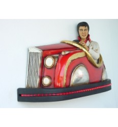 LAMP WITH ELVIS IN CAR