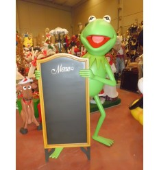 ANIMAL FROG W MENU SIGN 6 FT.