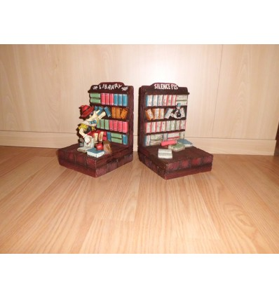 STATUE BOY BOOKENDS LIBRARY