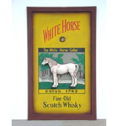 PUBSIGN WHITE HORSE SMALL