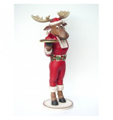 FUNNY CHRISTMAS MOOSE BUTLE