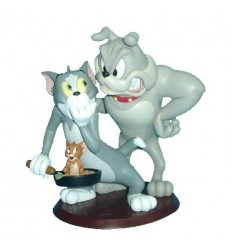 STATUE TOM & JERRY AND SPIKE