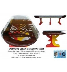 YD-079 OVAL WING TABLE + GLASS