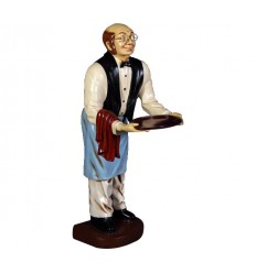 STATUE WAITER OLD MAN 3 FT.