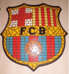 FCB MOSAIC FOOTBALL SIGN