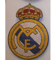 ESCUDO  REAL MADRID MOSAICO