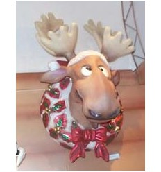 FUNNY CHRISTMAS MOOSE HEAD